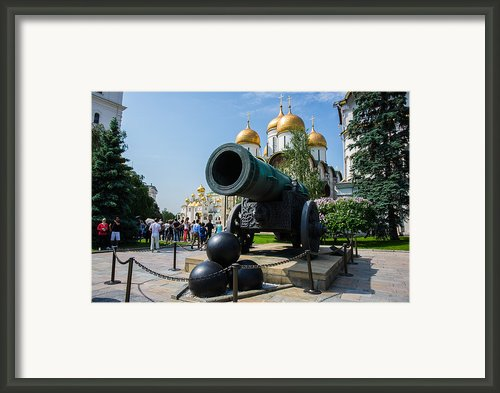 Czar Cannon Of Moscow Kremlin - Featured 3 Framed Print By Alexander Senin