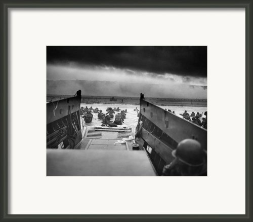 D-day Landing Framed Print By War Is Hell Store