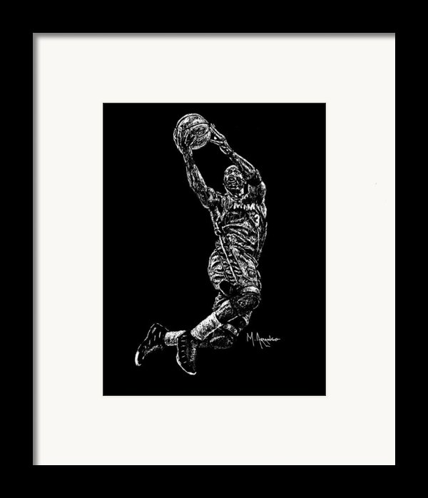 D. Wade Framed Print By Maria Arango