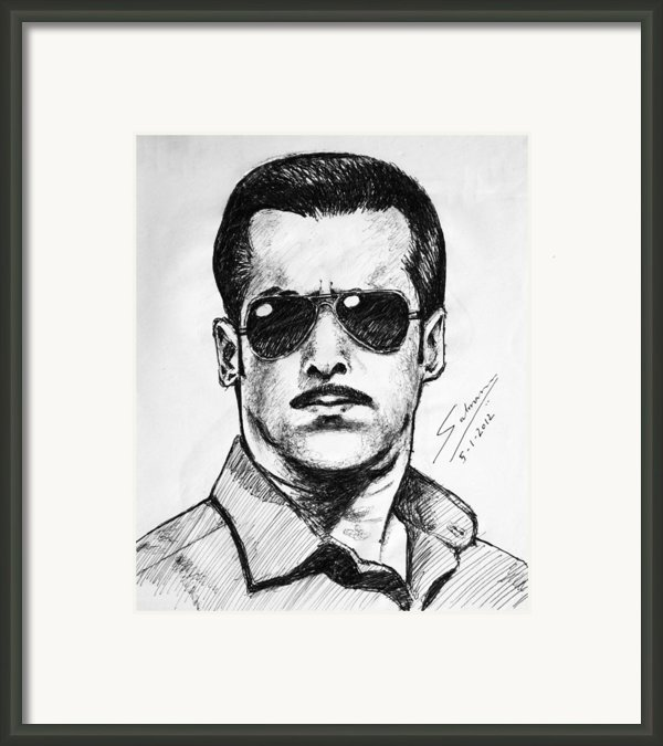 Dabanng Framed Print By Salman Ravish
