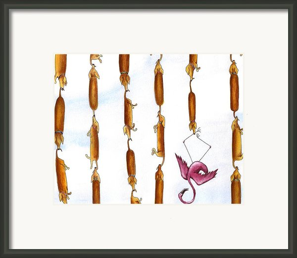 Dachshund Links Framed Print By Christy Beckwith