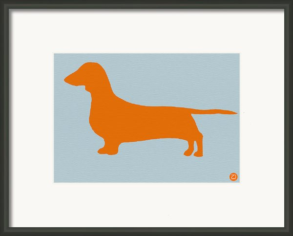 Dachshund Orange Framed Print By Irina  March