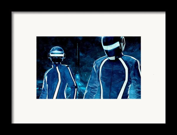Daft Punk In Tron Legacy Framed Print By Florian Rodarte