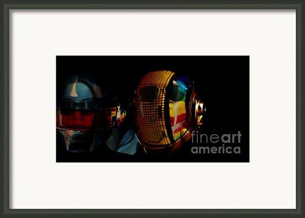 Daft Punk Pharrell Williams  Framed Print By Marvin Blaine