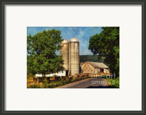 Dairy Farming Framed Print By Lois Bryan