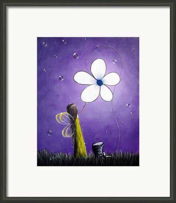 Daisy Fairy By Shawna Erback Framed Print By Shawna Erback