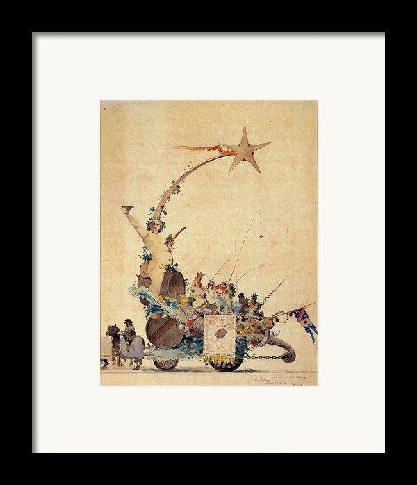 Dalbono Edoardo, Entertainment Framed Print By Everett