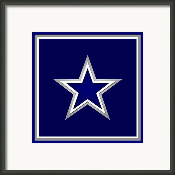 Dallas Cowboys Framed Print By Tony Rubino