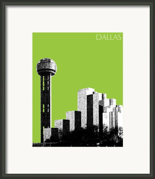 Dallas Reunion Tower Framed Print By Db Artist