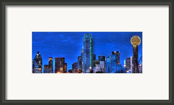 Dallas Skyline Hd Framed Print By Jonathan Davison