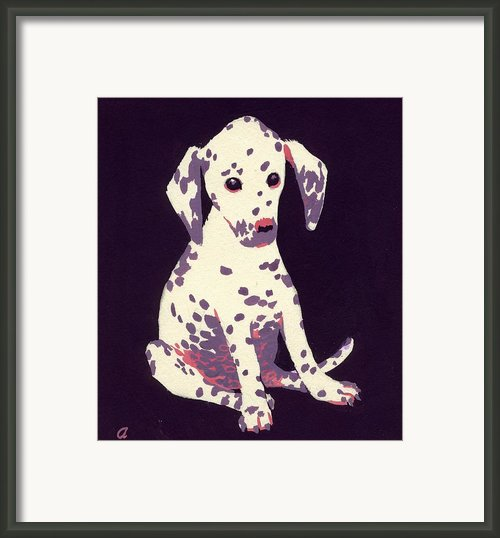 Dalmatian Puppy Framed Print By George Adamson