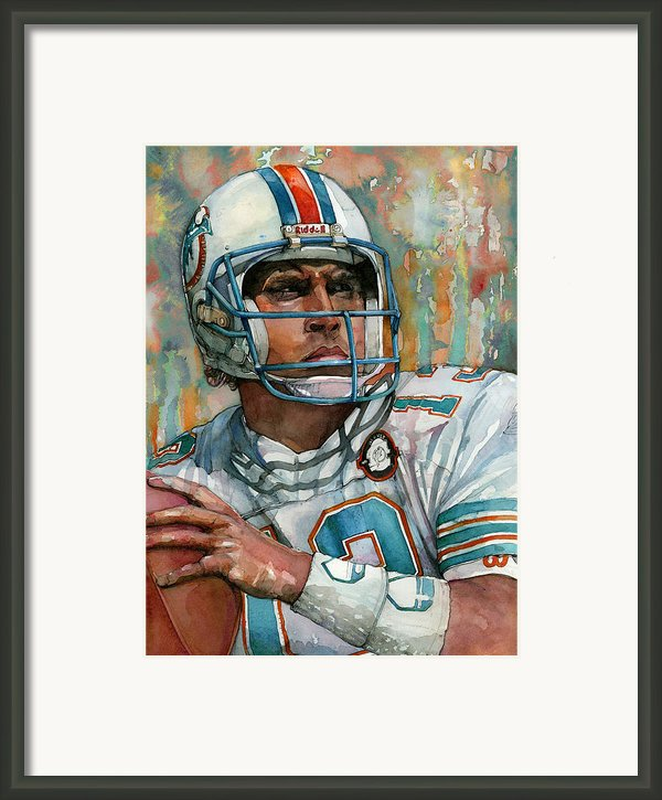 Dan Marino Framed Print By Michael  Pattison
