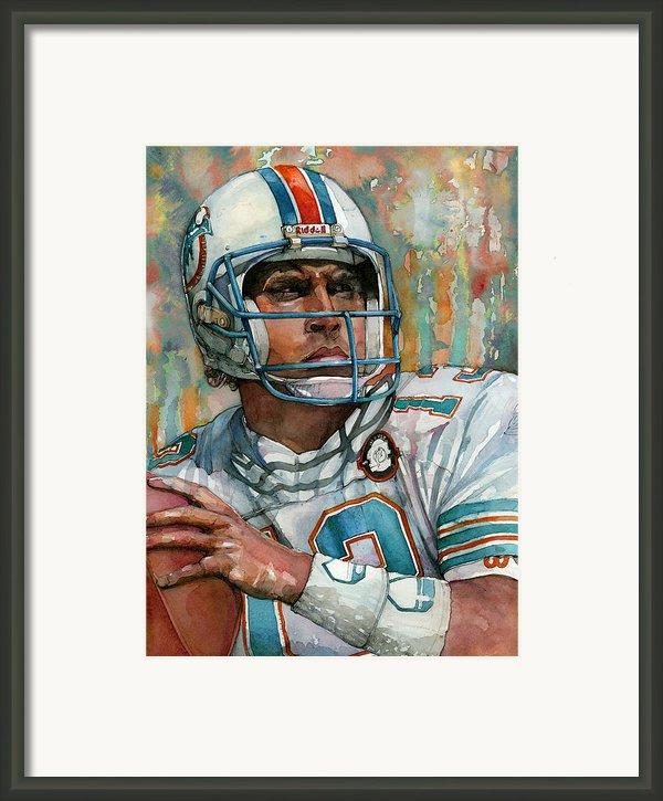Dan Marino Framed Print By Michael  Pattison