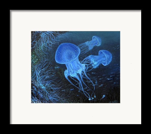 Dance Under Water Framed Print By Kiril Stanchev