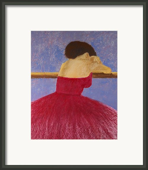Dancer In The Red Dress Framed Print By David Patterson
