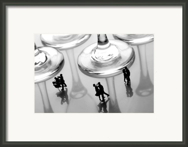 Dancing Among Glass Cups Framed Print By Paul Ge