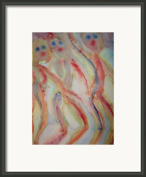 Dancing Elves Framed Print By Hilde Widerberg