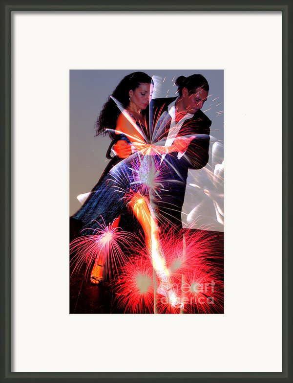Dancing Fireworks Framed Print By M And L Creations