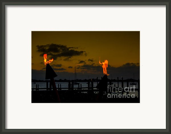 Dancing Flames Framed Print By Rene Triay Photography