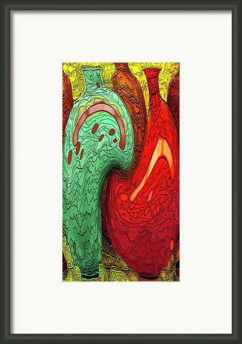 Dancing Vases Framed Print By Ben And Raisa Gertsberg