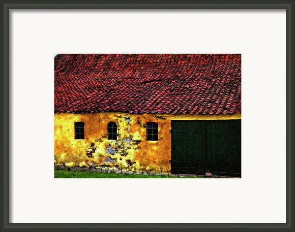 Danish Barn Impasto Version Framed Print By Steve Harrington