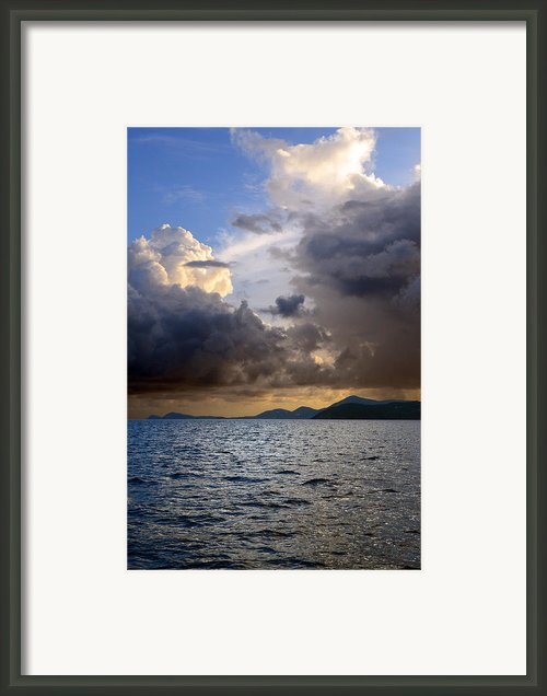 Dark And Stormy Framed Print By    Michael Glenn