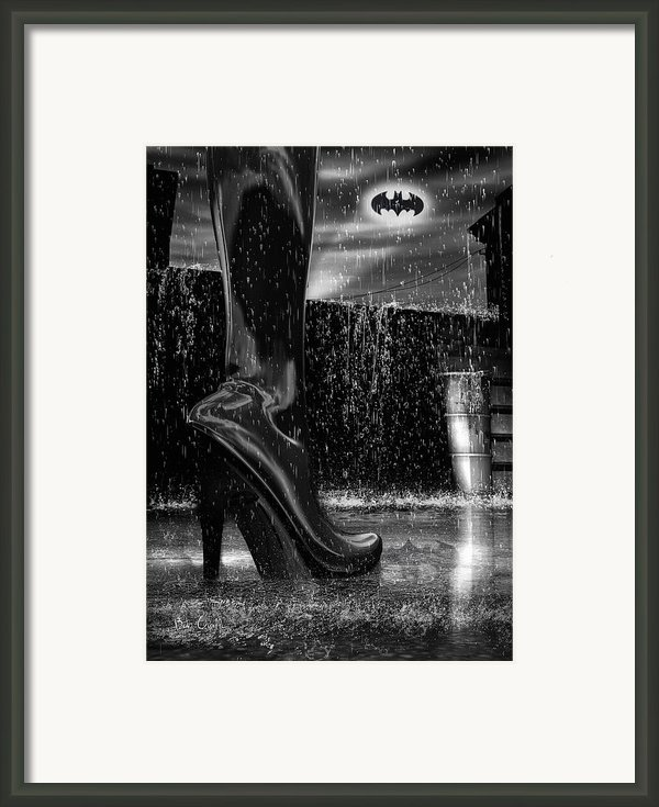 Dark Knight Shinny Boots Of  Leather Framed Print By Bob Orsillo