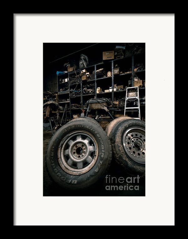 Dark Old Garage Framed Print By Amy Cicconi