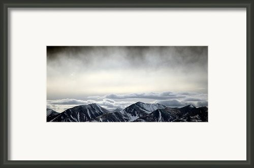 Dark Storm Cloud Mist  Framed Print By Barbara Chichester