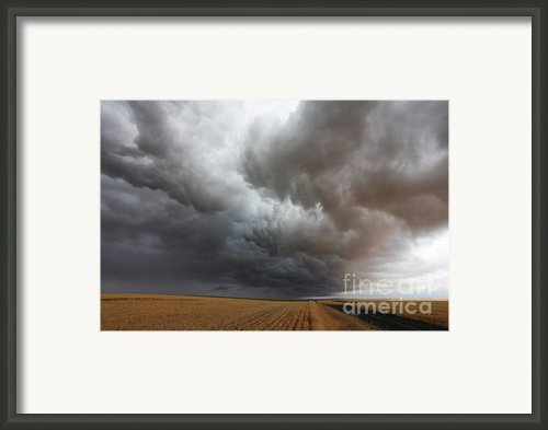 Dark Storm Clouds Framed Print By Boon Mee