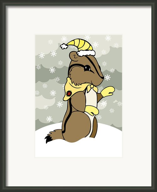 Dash Winter Framed Print By Christy Beckwith
