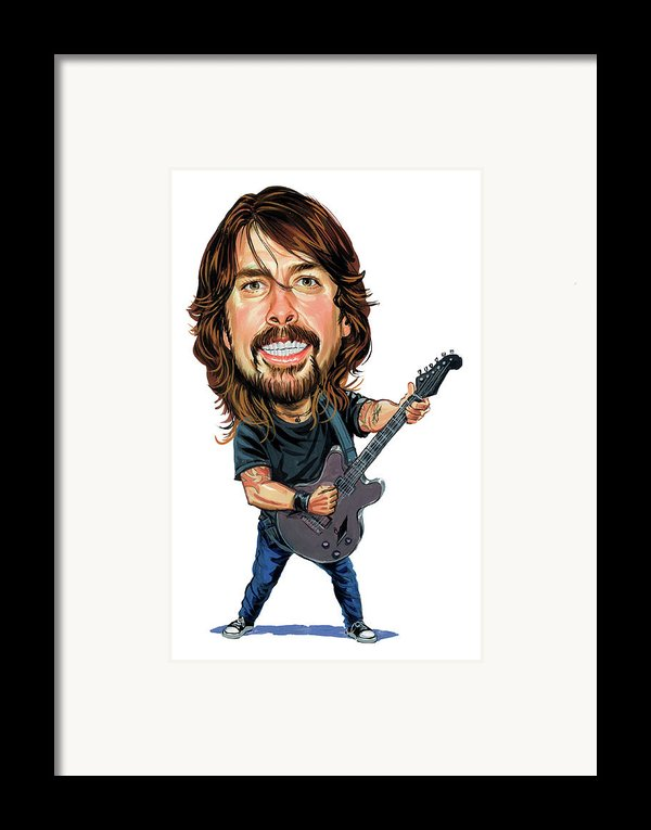 Dave Grohl Framed Print By Art