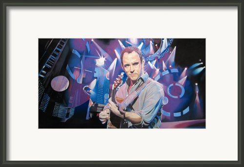 Dave Matthews And 2007 Lights Framed Print By Joshua Morton