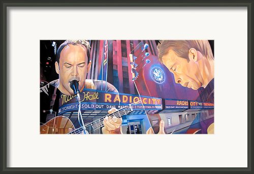 Dave Matthews And Tim Reynolds At Radio City Framed Print By Joshua Morton