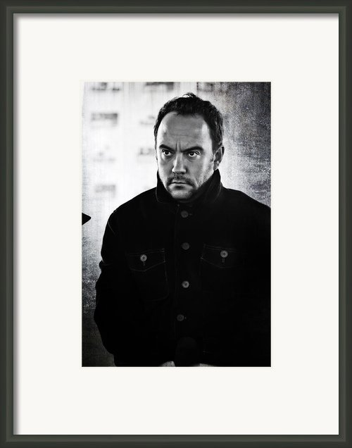 Dave Matthews In Black And White Framed Print By The  Vault - Jennifer Rondinellii Reilly