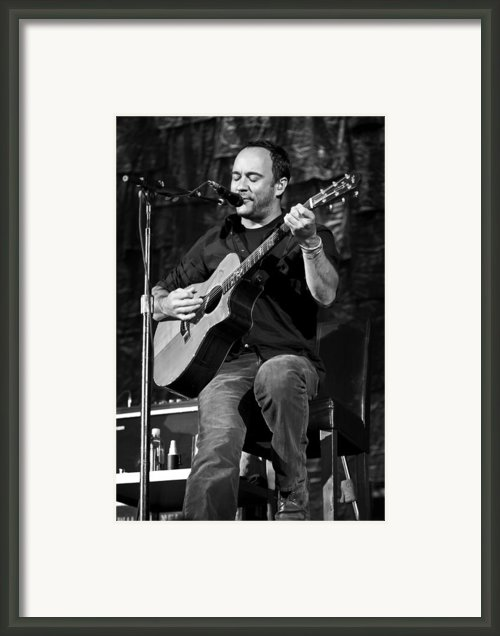 Dave Matthews On Guitar 9  Framed Print By The  Vault - Jennifer Rondinelli Reilly