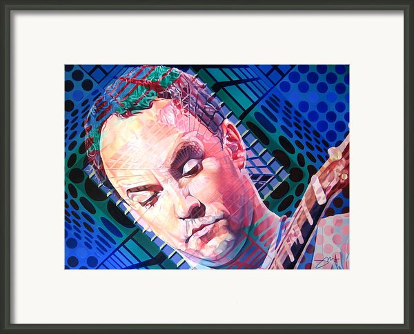 Dave Matthews Open Up My Head Framed Print By Joshua Morton