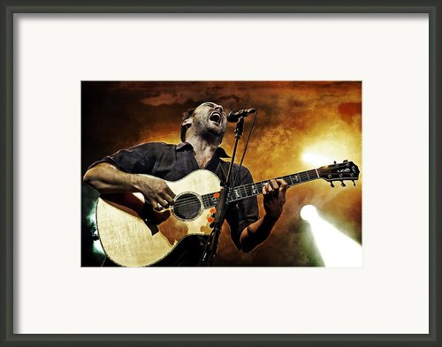 Dave Matthews Scream Framed Print By The  Vault - Jennifer Rondinelli Reilly