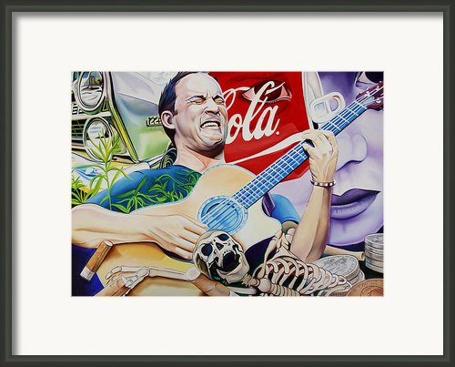 Dave Matthews Seek Up Framed Print By Joshua Morton