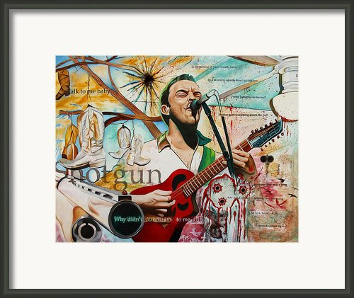 Dave Matthews Shotgun Framed Print By Joshua Morton