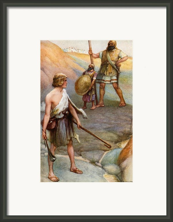 David And Goliath Framed Print By Arthur A Dixon