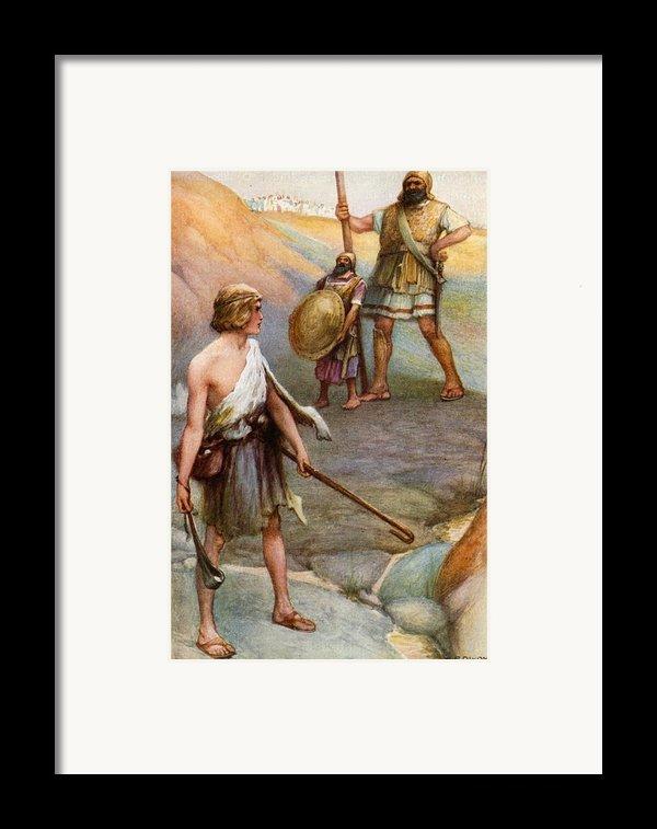 David And Goliath Framed Print By Arthur A Dixon