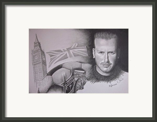 David Beckham Framed Print By Geni Gorani