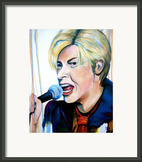 David Bowie Framed Print By Debi Pople
