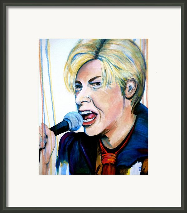 David Bowie Framed Print By Debi Starr