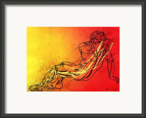 David Framed Print By Mark Ashkenazi