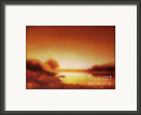 Dawn Arkansas River Framed Print By Ann Powell
