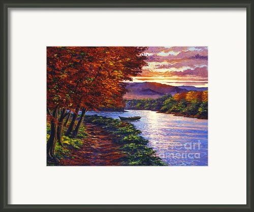 Dawn On The River Framed Print By David Lloyd Glover
