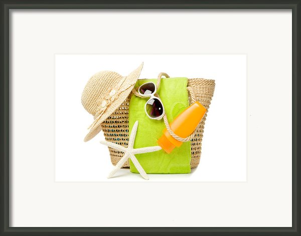 Day At The Beach Framed Print By Christopher And Amanda Elwell
