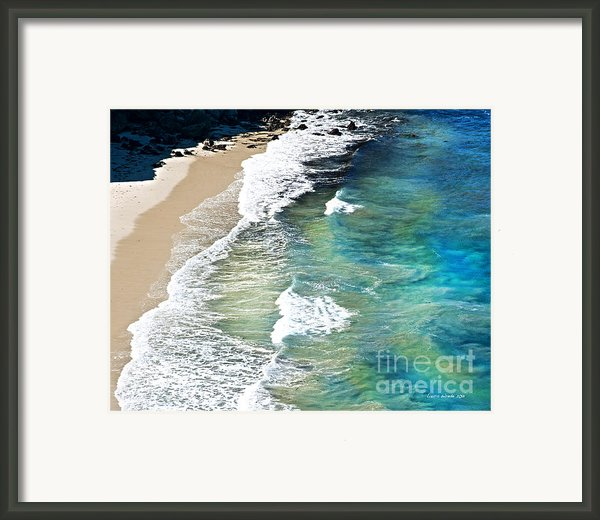 Days That Last Forever Waves That Go On In Time Framed Print By Artist And Photographer Laura Wrede